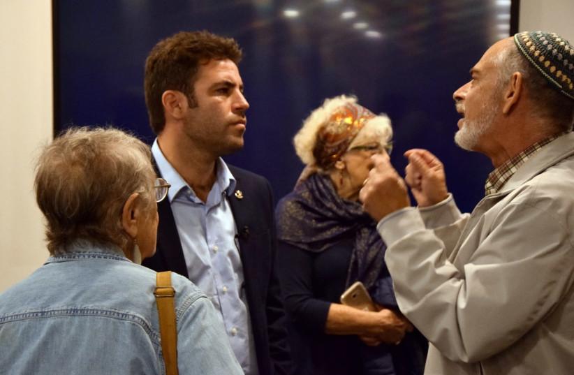 Ofer Berkovitch campaigns with Olim. (photo credit: YANNIK LISSON)