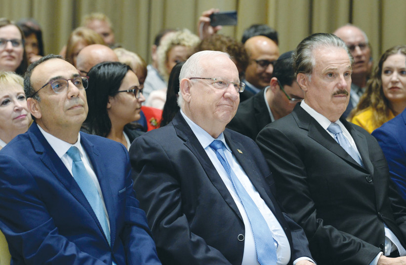 President Reuven Rivlin meets with members of the Christian media (photo credit: PRESIDENT'S OFFICE)