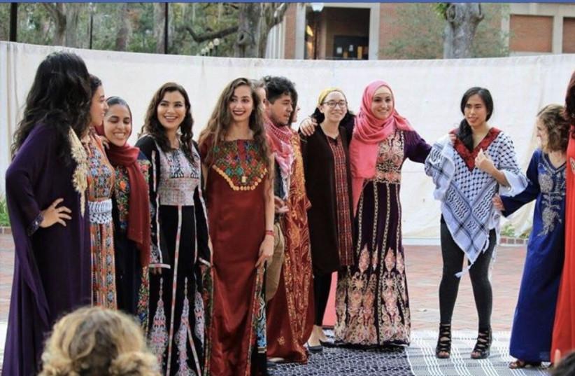 Lara Alqasem at a SJP event at University of Florida September 2017.  (photo credit: FACEBOOK)