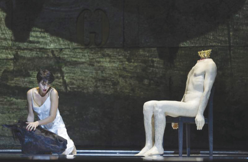 ASMIK GRIGORIAN as the title character in Strauss's 'Salome' (photo credit: SALZBURGER FESTSPIELE/RUTH WALZ)