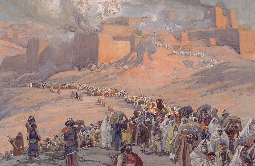THE FLIGHT of the Prisoners, c. 1896-1902 – exile, concluded AB Yehoshua, is 'in the molecules and atoms' that form Jewish identity.  (photo credit: JEWISH MUSEUM NEW YORK/WIKIMEDIA COMMONS)