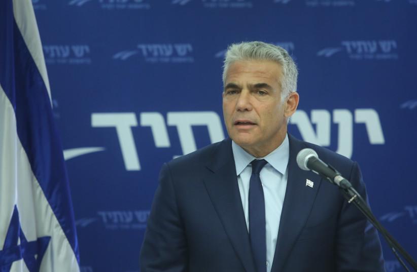 Yesh Atid Party Leader Yair Lapid, October 22, 2018 (photo credit: MARC ISRAEL SELLEM/THE JERUSALEM POST)