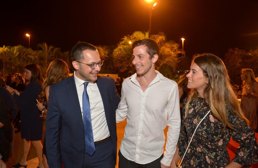 Gilad Shalit and his girlfriend Nitzan at Shalva gala.  (photo credit: Courtesy)