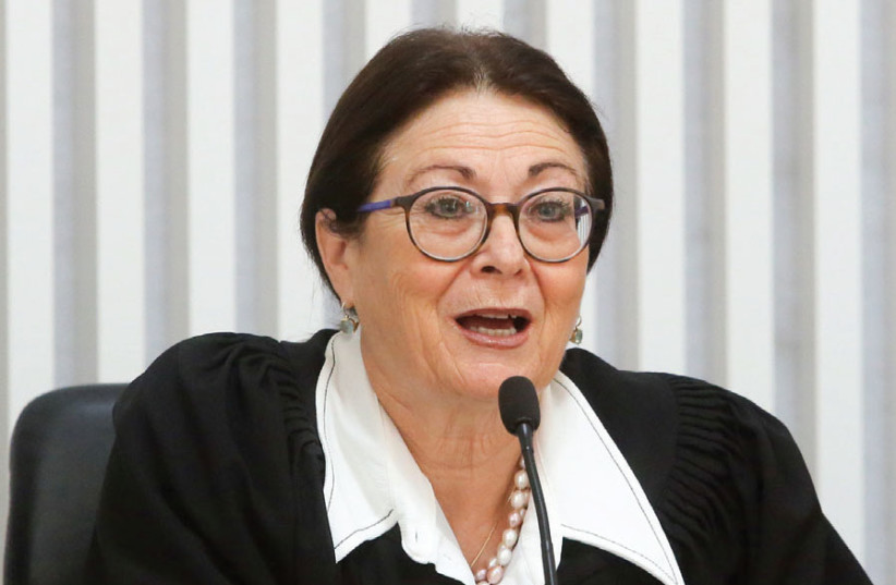 Israel's Chief Justice Esther Hayut (photo credit: MARC ISRAEL SELLEM)