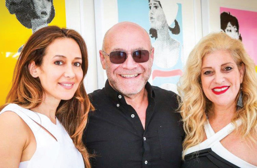 Chairman of the Board Dvir Benedek (center) with Honorary President Batia Ofer (left) and Cofounder and CEO Denise Bar-Aharon (photo credit: SHLOMI YOSEF)