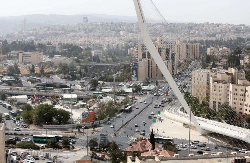 Jerusalem Chords Bridge (photo credit: MARC ISRAEL SELLEM)