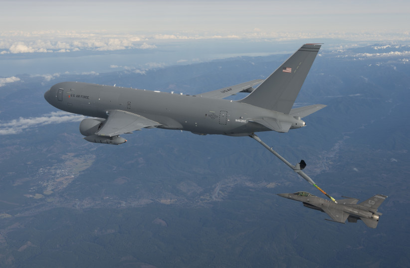 Boeing's KC-46 aerial refueling tanker (photo credit: BOEING)