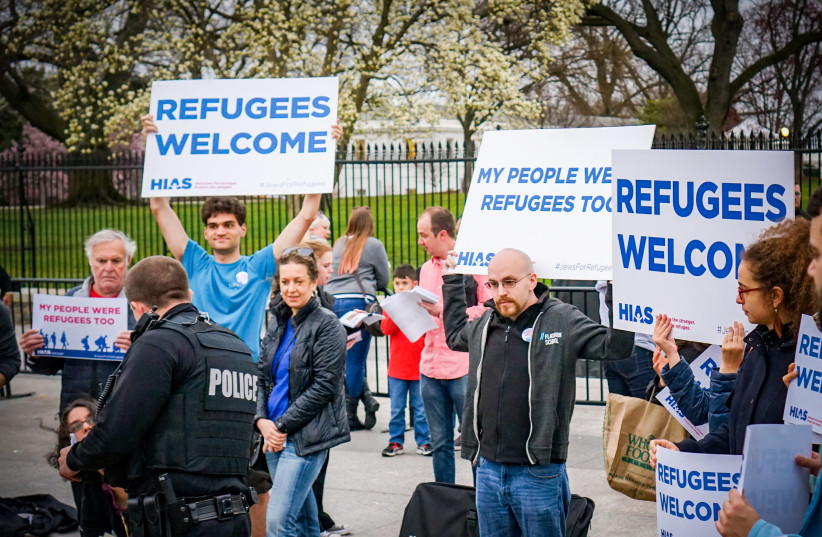 HIAS SUPPORTERS take part in a pro-immigration rally in Washington last year. (photo credit: TED EYTAN)