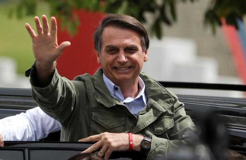 The new Brasilian President Jair Bolsonaro (photo credit: REUTERS/PILAR OLIVARES)