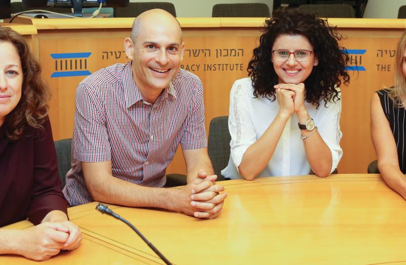 IDI Researchers (L to R): Alona Vinograd, Dr. Gilad Malach, Nasreen Hadad Haj-Yahya and Daphna Aviram-Nitzan (photo credit: MARC ISRAEL SELLEM/THE JERUSALEM POST)