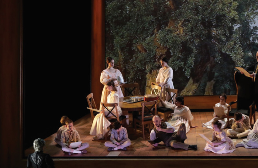 TWO SCENES from the Israeli Opera House's production of 'Werther.' (photo credit: Courtesy)