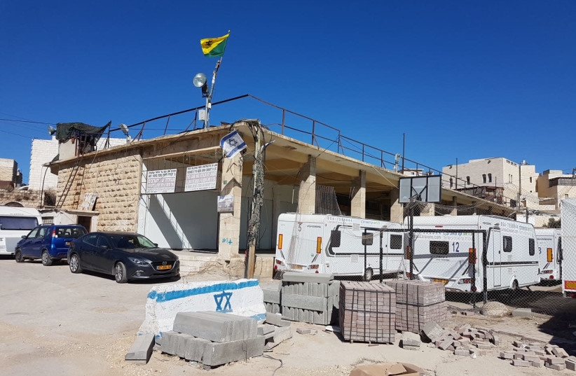 The site of new Jewish construction in Hebron (photo credit: TZIPI SHLISEL/TPS)