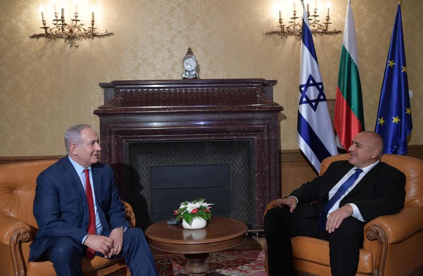 Israeli Prime Minister meets with Bulgarian Prime Minister Boyko Borissov (photo credit: AMOS BEN-GERSHOM/GPO)