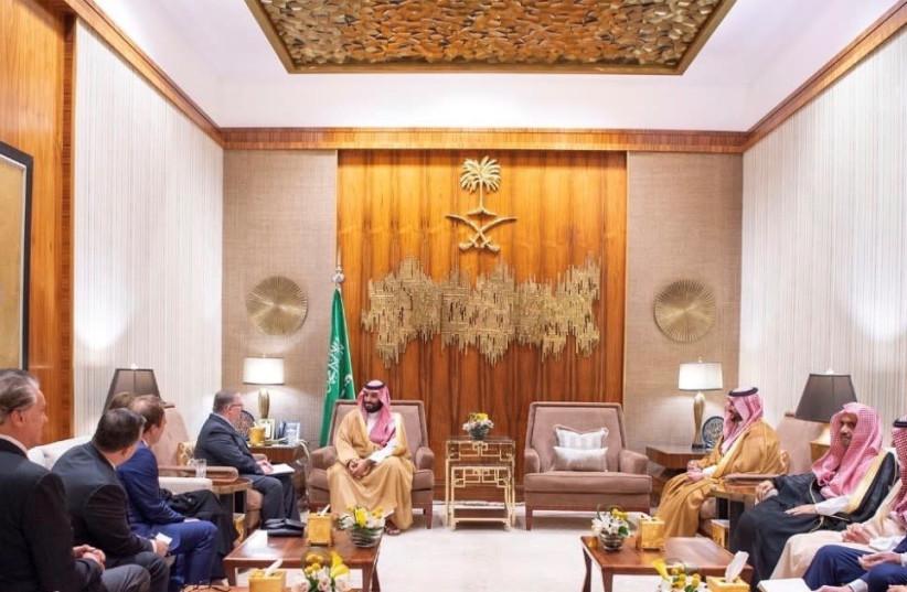 Crown Prince Mohammad bin Salman in his palace in Saudia Arabia (photo credit: ROYAL PALACE)