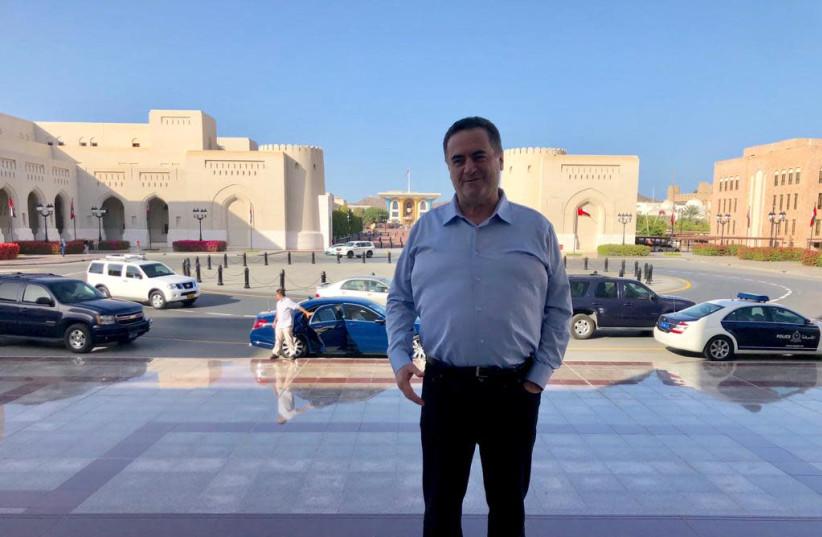 Transportation and Intelligence Minister Israel Katz in Oman. (photo credit: Courtesy)