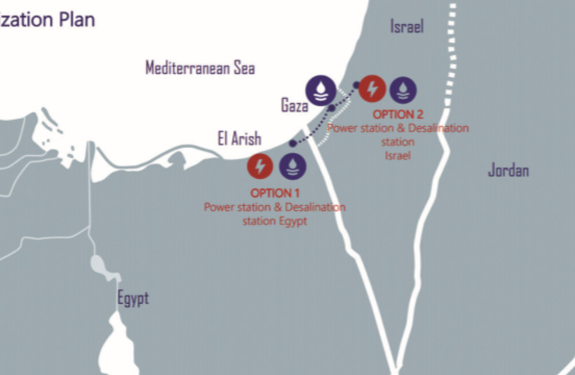 A DIAGRAM of the plan for Gaza (photo credit: COURTESY FOZ)