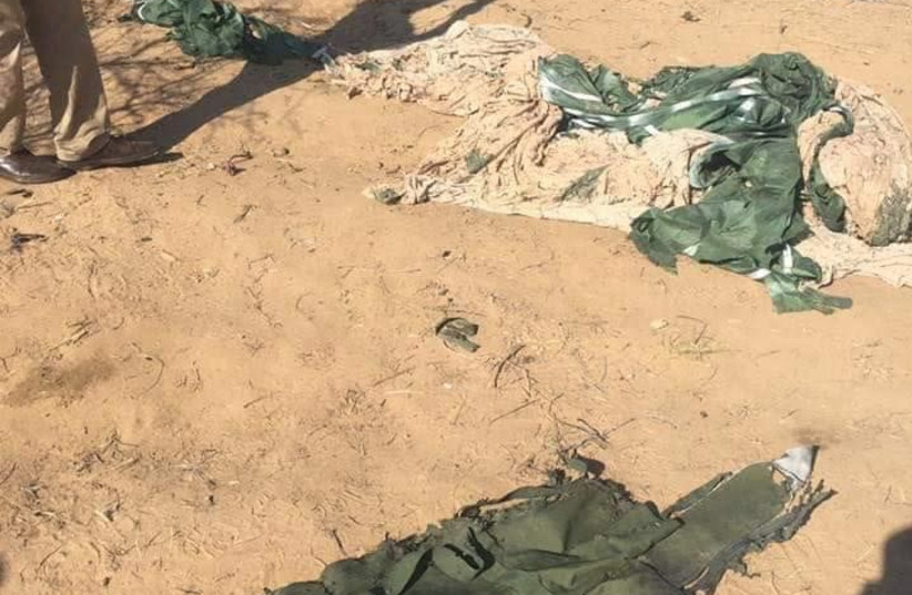 An image released by Hamas, claiming to show the gear of an IDF soldier killed during an operation on November 11th, 2018. Picture published November 12th, 2018 (photo credit: Courtesy)