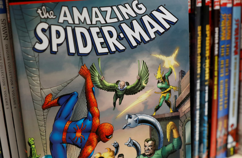 A Spider-Man comic book is seen in this photo illustration taken November 12, 2018 (photo credit: SHANNON STAPLETON/ REUTERS)