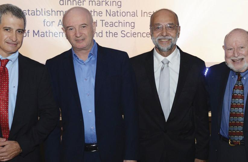 Eli Hurvitz, Daniel Zajfman, Israel Ben Yosef and Lee Shulman (photo credit: ITAI BELSON)