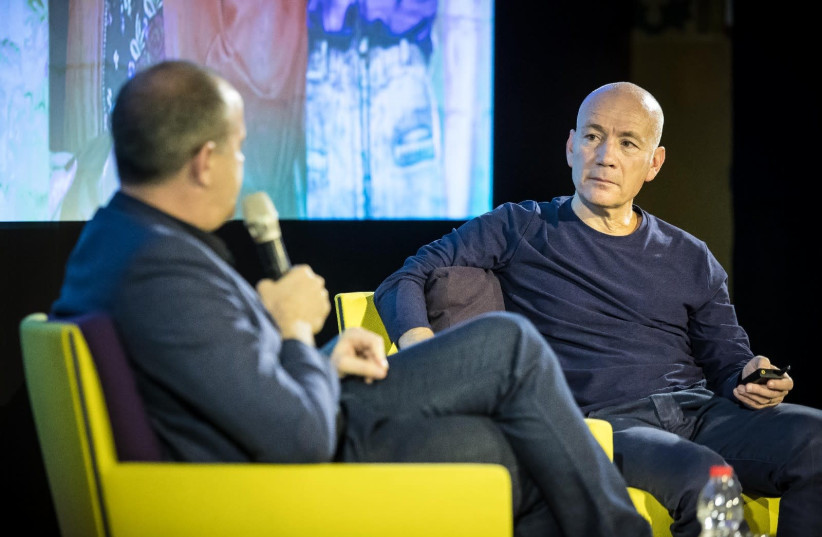 KESHET CEO Avi Nir is interviewed at the network's INTV Conference in Jerusalem earlier this year (photo credit: ODED KARNI)
