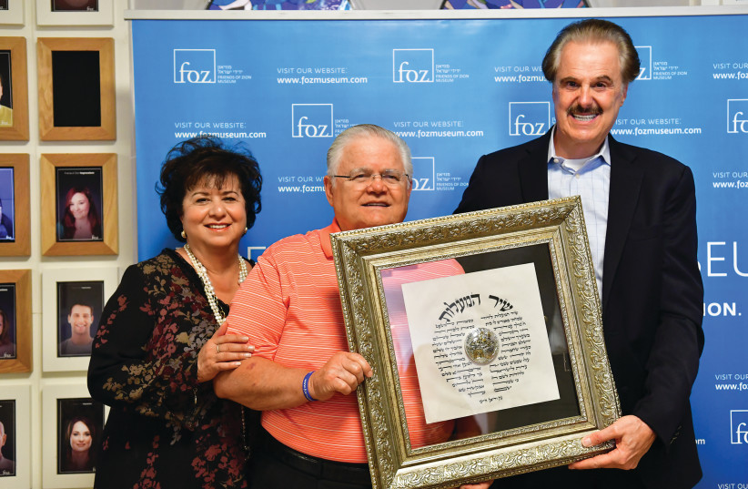 The Friends of Zion Museum celebrated the visit on Tuesday of Pastor John Hagee, the founder and national chairman of the Christian pro-Israel organization Christians United for Israel (CUFI) and the founder and senior pastor at Cornerstone Church in San Antonio, Texas.  Hagee arrived in Israel with (photo credit: COURTESY FRIENDS OF ZION)