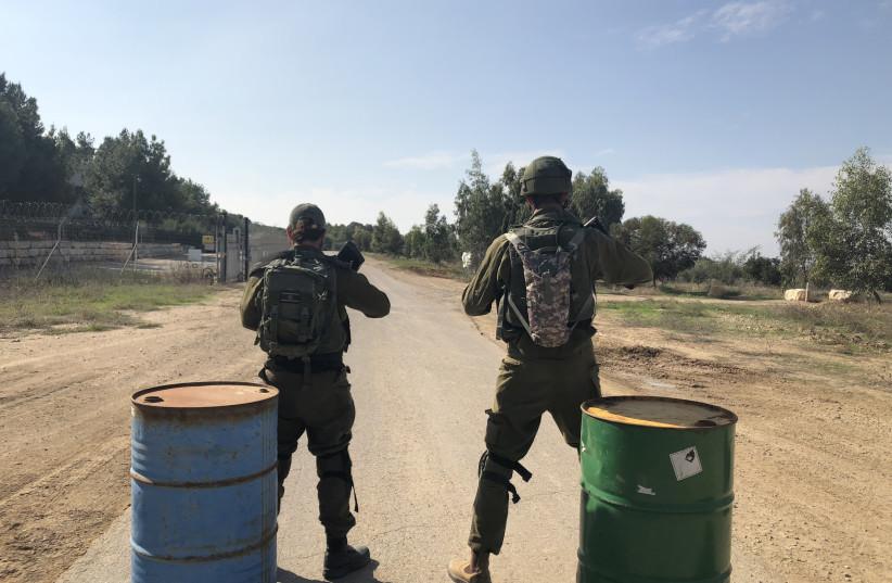 IDF soldiers near the Gaza border (photo credit: ANNA AHRONHEIM)