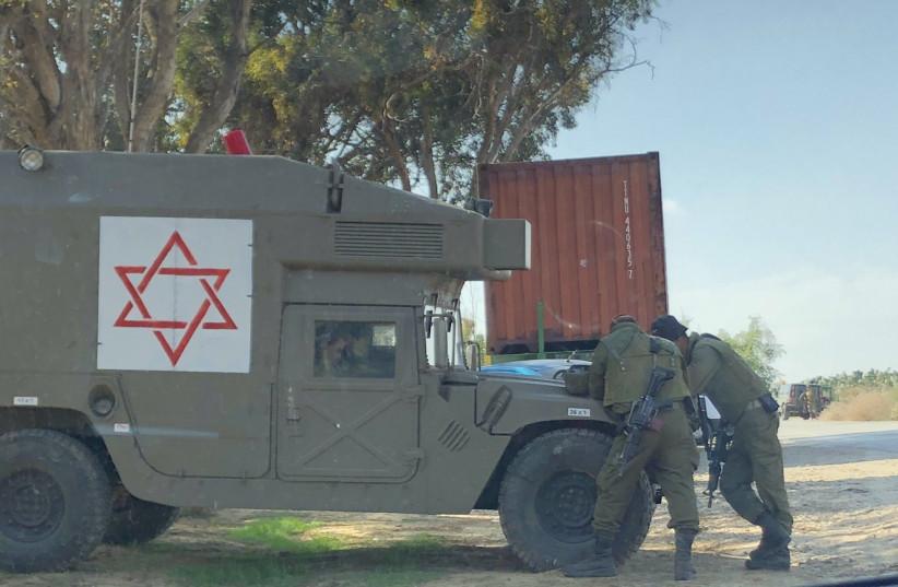 IDF forces on the Gaza border, November 13, 2018 (photo credit: ANNA AHRONHEIM)