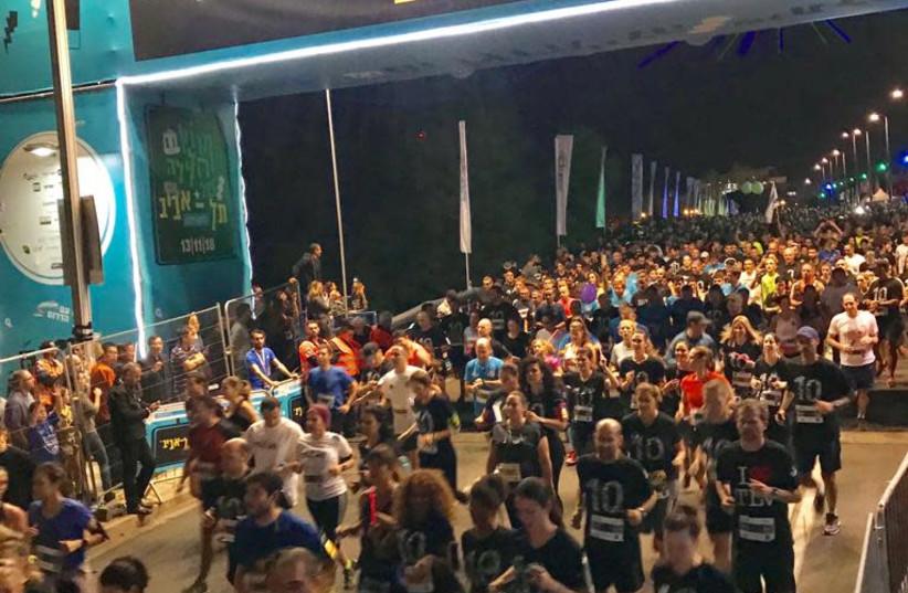 Tel Aviv Night Run, November 13, 2018 (photo credit: AVSHALOM SASSONI/ MAARIV)