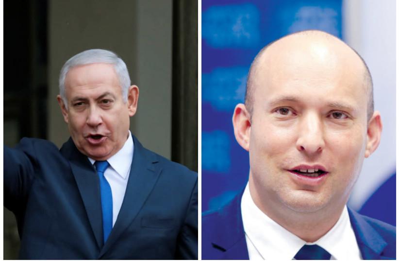 Prime Minister Benjamin Netanyahu and Education Minister Naftali Bennett (photo credit: REINHARD KRAUSE/REUTERS+MARC SELLEM ISRAEL/THE JER)