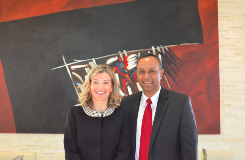 International Leaders Summit co-founders Natasha Srdoc and Joel Anand Samy (photo credit: Courtesy)