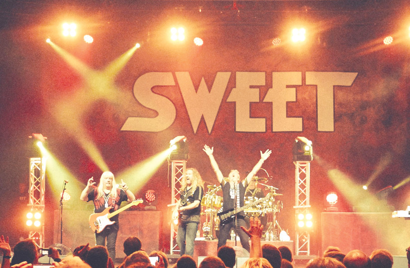THE SWEET'S Andy Scott (left): I wouldn't want to be the band that goes on after us (photo credit: Courtesy)