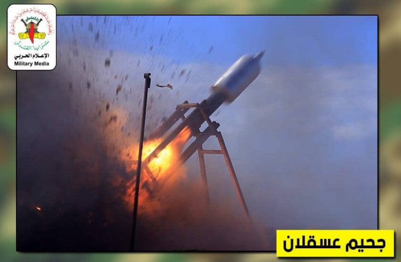 THE NEW rocket produced by Islamic Jihad.  (photo credit: TWITTER)