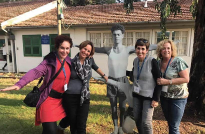 Myra Chack Fleischer, JNF Partner, Noa Gefen, Ann Zinman, and Nina Paul at the Ayalon Institute Underground Bullet Factory (photo credit: JNF USA)