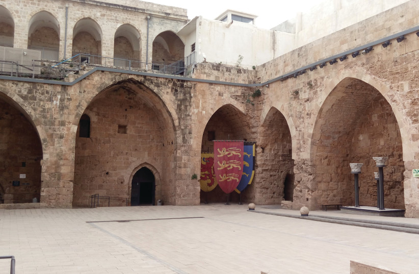 THE COURTYARD of the Knights' Halls (Hospitaller Fortress) in Acre's Old City (photo credit: LIAT COLLINS)