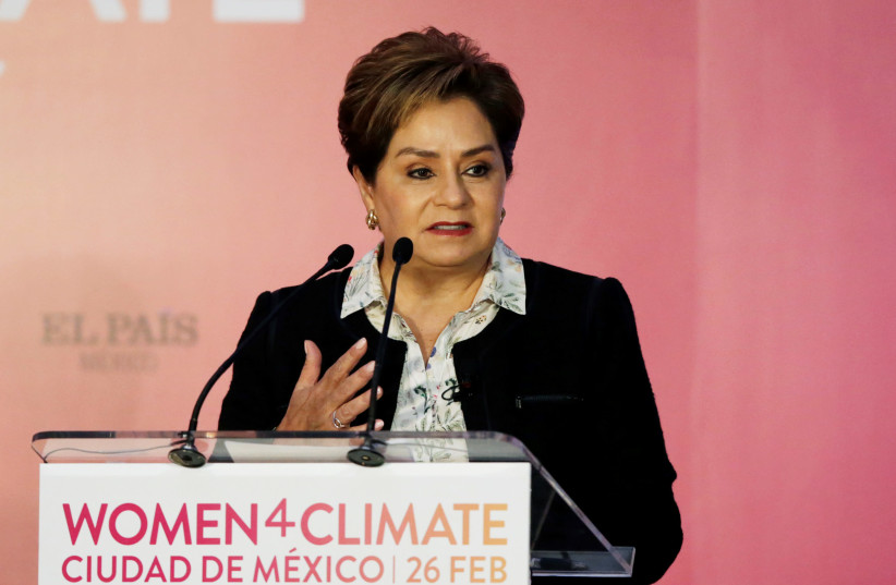 Patricia Espinosa gives a speech during the Women4Climate conference in Mexico City, Mexico February 26, 2018. (photo credit: REUTERS/HENRY ROMERO)