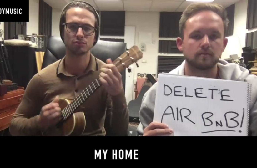 THE PORTNOY brothers sing about Airnbn in their latest song. (photo credit: screenshot)