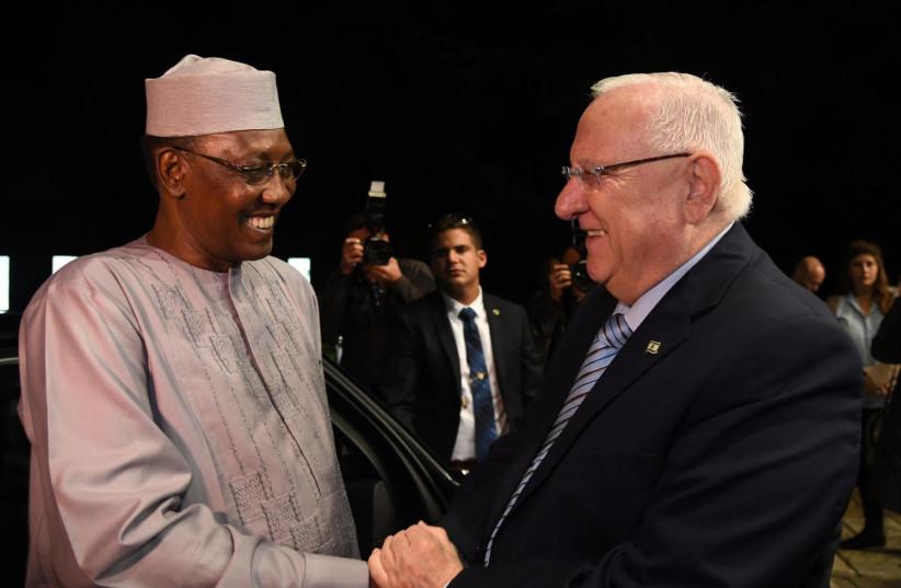 President Rivlin met the President of Chad Idriss Deby in Jerusalem in November 25, 2018 (photo credit: CHAIM ZACH / GPO)