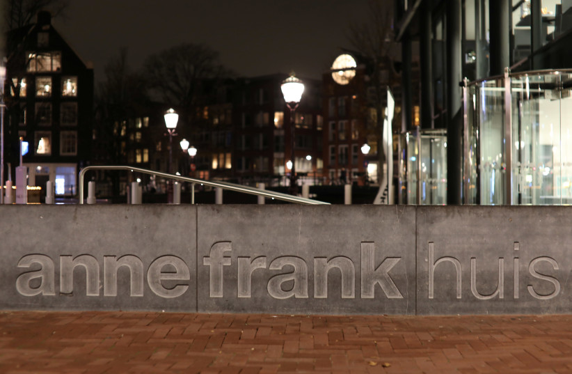 View of the entrance of the Anne Frank House museum in Amsterdam, Netherlands November 21, 2018. Picture taken November 21, 2018.  (photo credit: REUTERS/EVA PLEVIER)