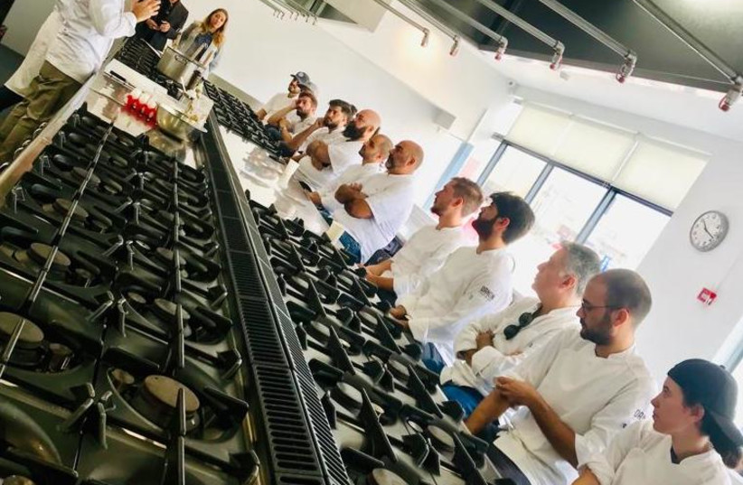 Italian chef Giancarlo Morelli gives a cooking class in Israel (photo credit: ROTEM BARAK)