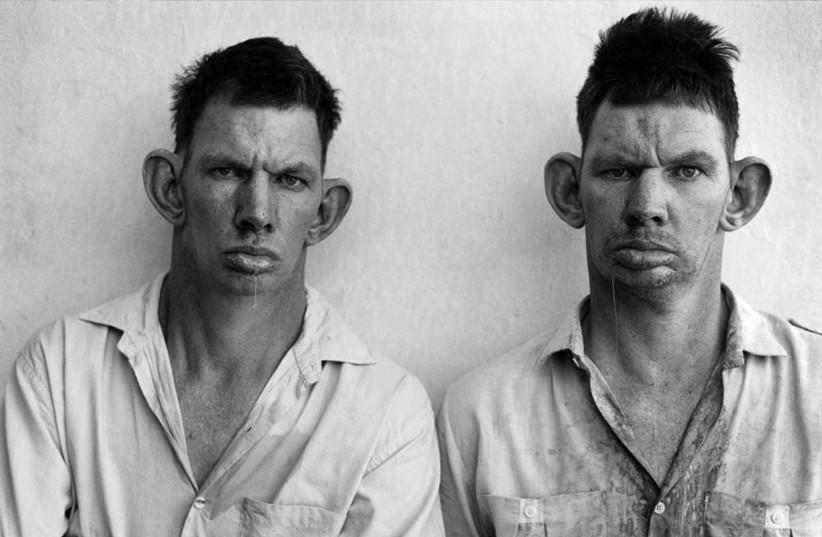 Roger Ballen's 'Dresie and Casie, twins' (photo credit: Courtesy)