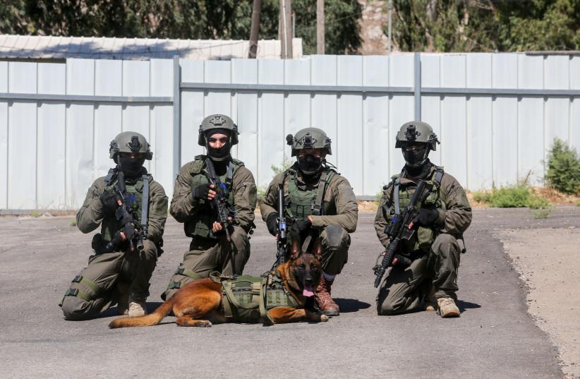 The IDF's elite Oketz unit at a day of training (photo credit: MARC ISRAEL SELLEM/THE JERUSALEM POST)