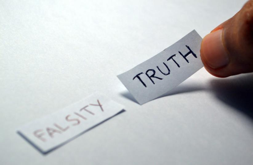 Truth and falsity (photo credit: PIXABAY)