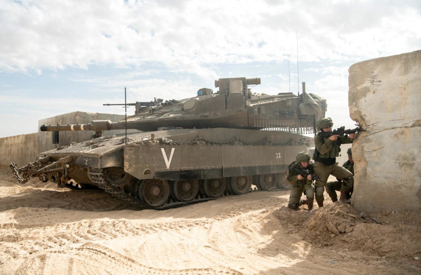 A new brigade in Israel's southern front has been established to guard the border with Egypt's Sinai Peninsula (photo credit: IDF SPOKESPERSON'S UNIT)