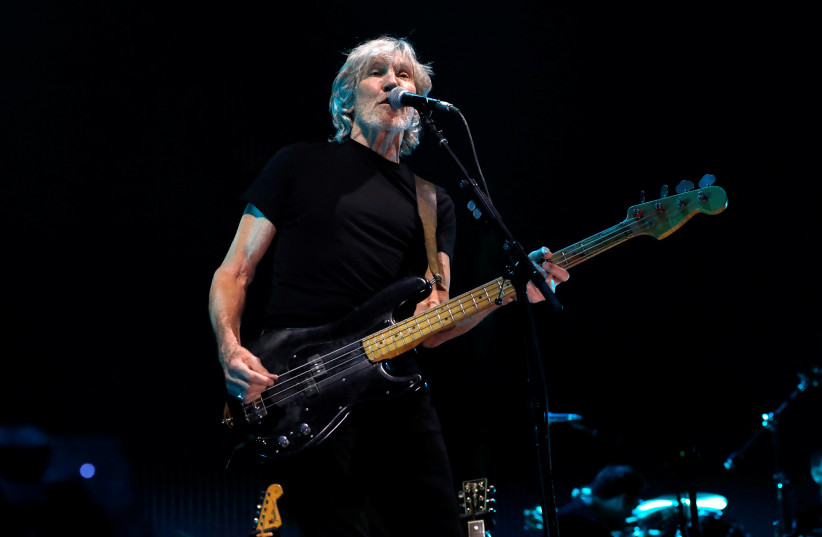 Musician Roger Waters performs at Staples Center in Los Angeles, California, U.S., June 20, 2017 (photo credit: MARIO ANZUONI/REUTERS)