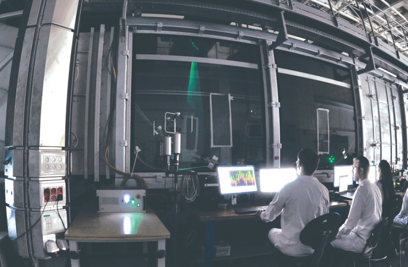 THE ENVIRONMENTAL wind tunnel developed at the Israel Institute for Biological Research. (photo credit: Courtesy)