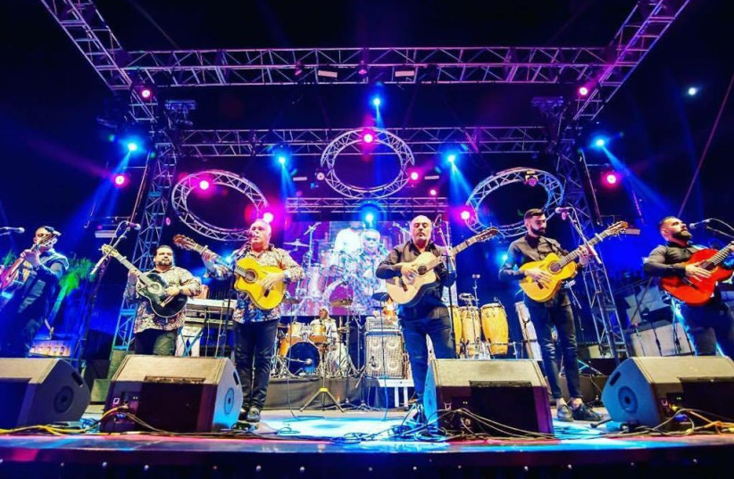 """The Gipsy Kings, of """"Bamboleo"""" fame, perform in concert. (photo credit: Courtesy)"""