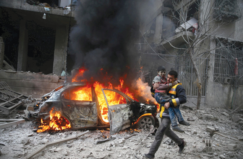 NO ONE did anything to stop the carnage in Syria.  (photo credit: REUTERS)