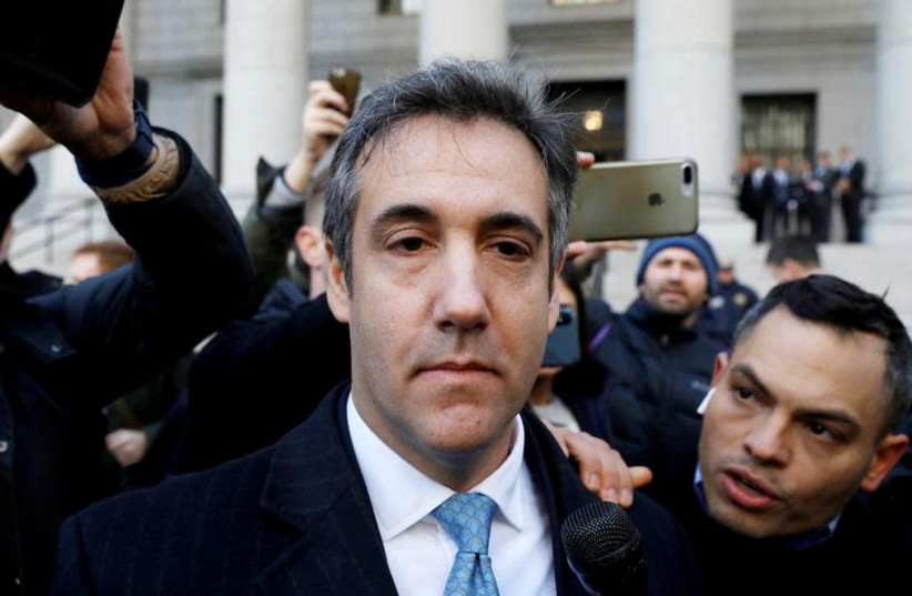 U.S. President Donald Trump's former lawyer Michael Cohen exits Federal Court after entering a guilty plea in Manhattan, New York City, U.S., November 29, 2018 (photo credit: ANDREW KELLY / REUTERS)