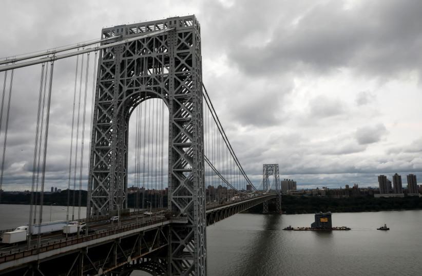 George Washington Bridge between New York City and New Jersey, 2018. (photo credit: REUTERS/MIKE SEGAR)