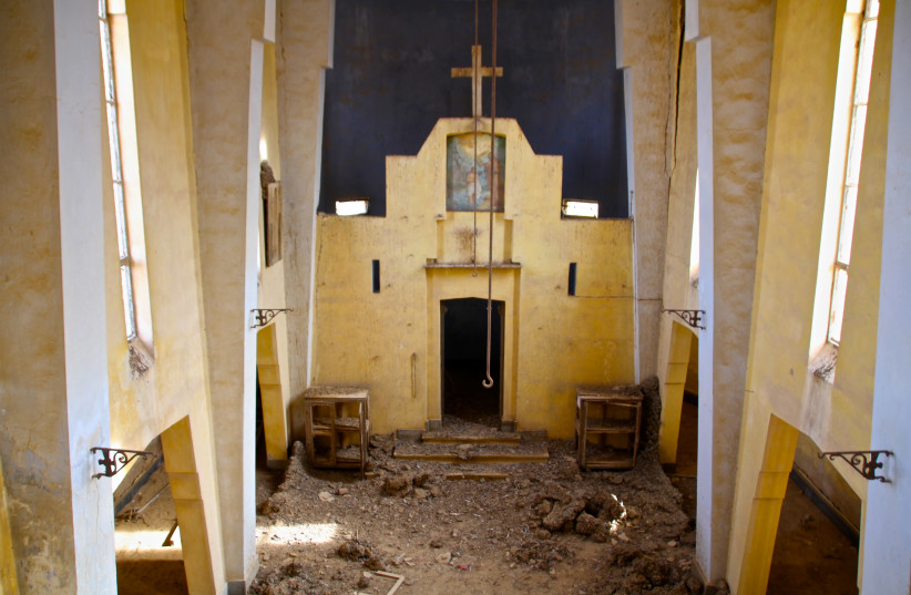 The abandoned Ethiopian Monastery by Jesus' baptismal site in the Jordan Valley (photo credit: TOVAH LAZAROFF)